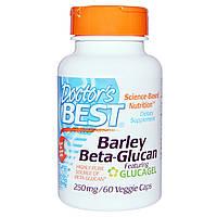 Doctor's Best, Бета-глюкан из ячменя, 250 мг, 60 растительных капсул