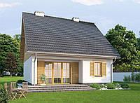 Проект мансардного дома  Hd38