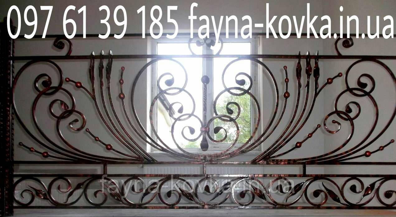 Перила ковані на сходи 2555 - Файна Ковка в Львовской области