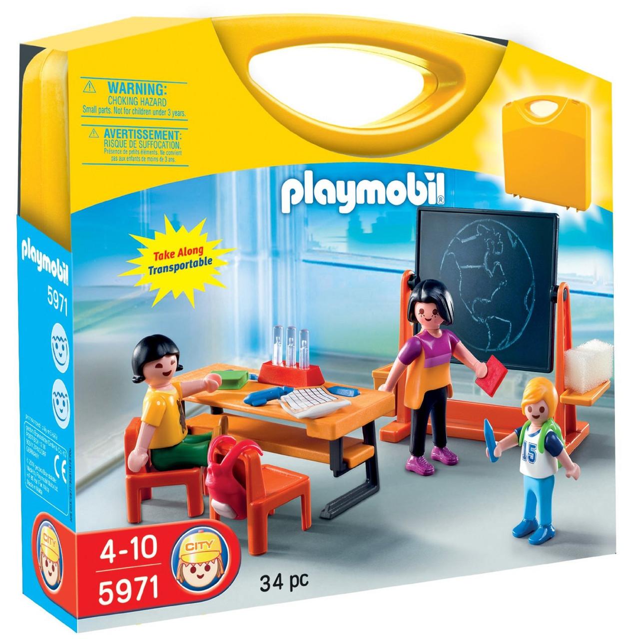 Playmobil 5971 Конструктор Школа   (Конструктор школа Playmobil Возьми с собой, Плеймобил 5971)