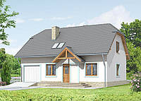Проект мансардного дома Hd39