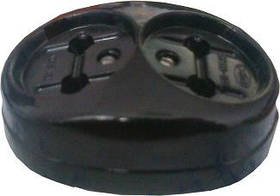Розетка наружной проводки двойная  16А 250В Житомир,черная