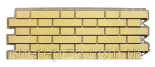 Панель фасадная Кирпич клинкерный желтый