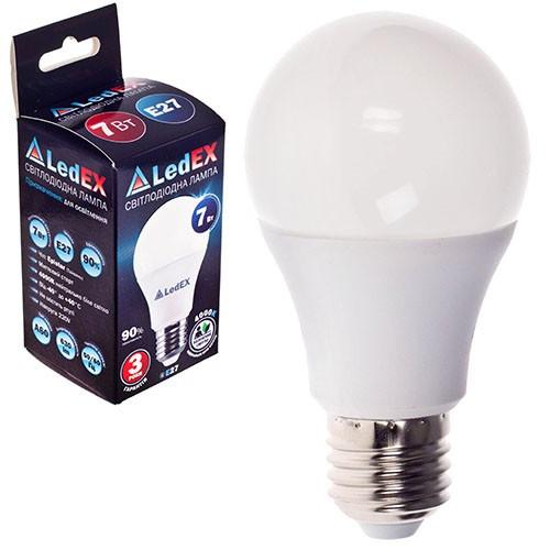 Лампа светодиодная 220V E27 7W 630Lm 4000K 270? LEDEX (чип Epistar) Та