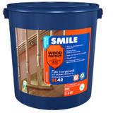 Лак для дерева и мин. поверхн. «SMILE®WOOD PROTECT®» SL42 акриловый бесцвет. Полумат  2,3 кг