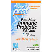 Doctor's Best, Fast Melt, Immune Probiotic with Bifodan, 30 Stick Packets