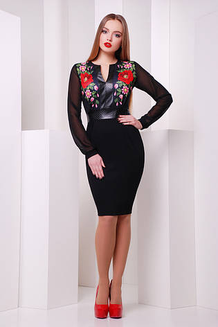 Красивое женское платье с маками, фото 2