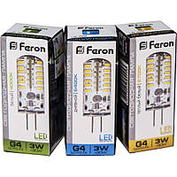 Лампа LED LB-422 AC/DC 12V 3W 48leds G4 4000K Feron