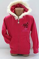 Утепленный батник на замке для девочек 1-2-3- 4 лет  Цвет:розовый