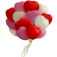 Фонтан из гелиевых сердец, гелиевые шары сердце. Гелиевые шары Киев.