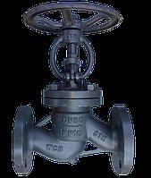 Клапан запорный проходной фланцевый 15с65нж Ду15 Ру16