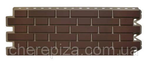 Панель фасадная Кирпич клинкерный коричневый