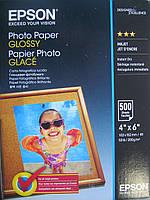 Фотобумага Epson, 10x15, 200 г/м2, 500 л глянцевая