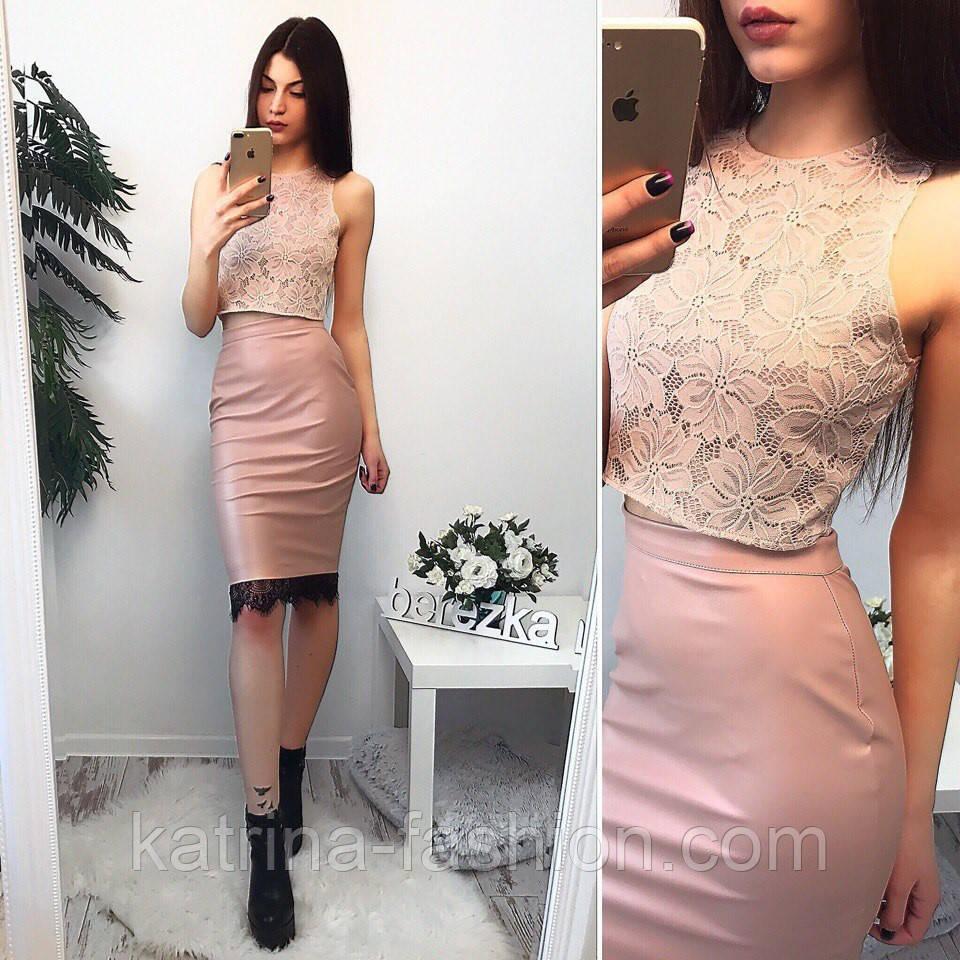 Женская одежда топ и юбка