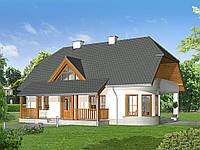 Проект мансардного дома Hd41