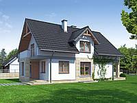Проект мансардного дома Hd42