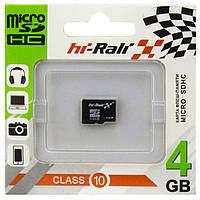 Карта памяти micro SD HI-RALI 4GB class 10