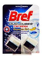 Чистящие кубики для сливного бочка Bref Duo-Cubes Формула 2 в 1 Гигиена 2 х 50 г - 100 г.