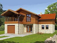 Проект мансардного дома Hd43