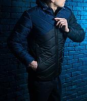 Куртка осенняя весенняя демисезонная мужская синий
