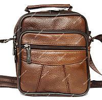 Компактная мужская кожаная сумка - барсетка (8001 ск)
