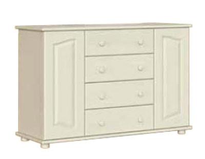 Элемент спального гарнитура Риана, от мебельной фабрики Скиф. Удобный и функциональный деревянный комод К-8