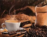 """Раскраска по номерам """"Кофе с шоколадом"""""""