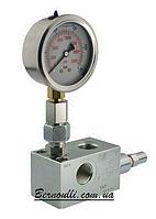 """Запобіжний клапан з манометром VMP 1/2"""" 50-250Bar"""