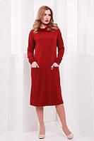 Женское  платье Straight  марсала  FashionUp 42-48 размеры