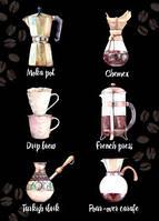 """Открытка """"Черный кофе"""""""
