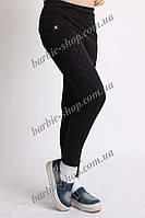 Лосины для девочки черного цвета с бантиком 5126