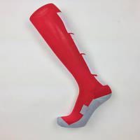 Гетры футбольные Europaw красно-белые с трикотажным носком