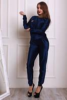 Женский брючный  костюм из бархата 42-46,доставка по Украине