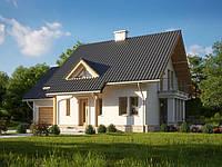 Проект мансардного дома Hd45