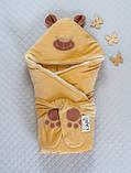 """Зимний конверт-одеяло для новорожденных """"Панда"""" капучино, фото 2"""