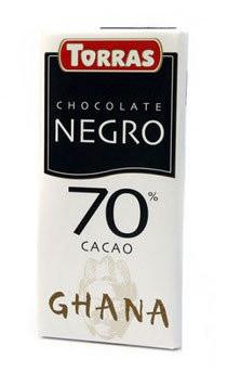 Шоколад Torras Negro 70% какао Испания 125г