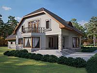 Проект мансардного дома Hd46