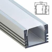 """Профиль для светодиодной ленты """"накладной"""" высокий, серебро,  Feron CAB261"""