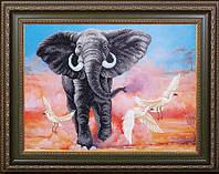 Набор для вышивания бисером Африканский слон