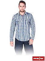 Рубашка мужская модного фасона из высококачественного мягкий на ощупь материала KF-SKYWORKS N