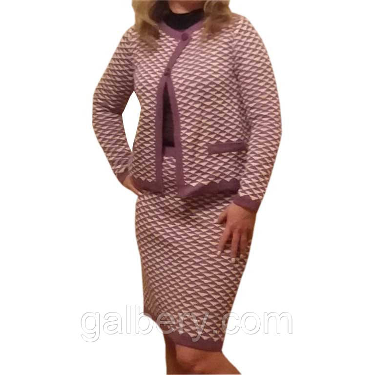 a7b5fa0dc0b2 Вязаный женский костюм в стиле