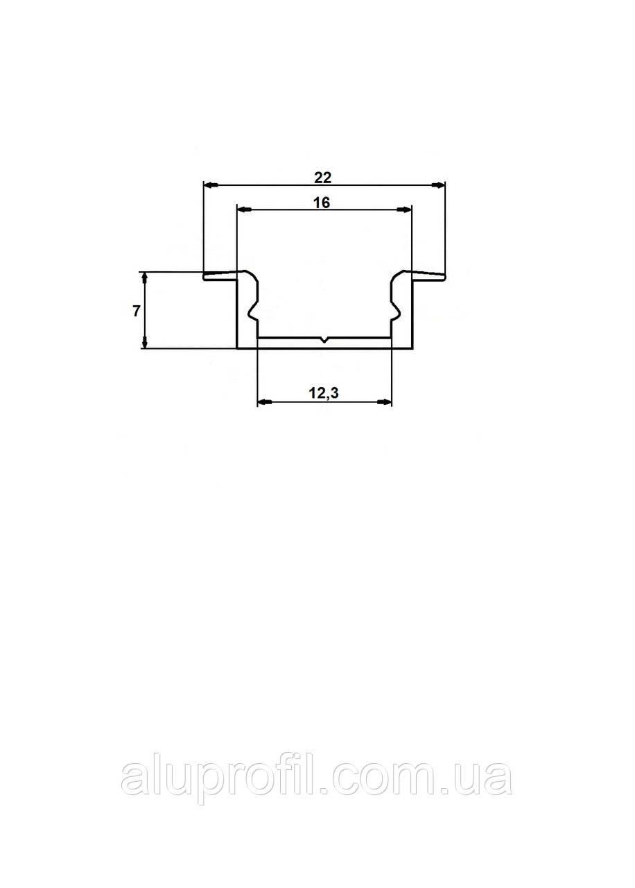 Светодиодный 22х7 Б/П