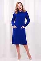 Женское платье Straight  электрик  FashionUp 42-48 размеры
