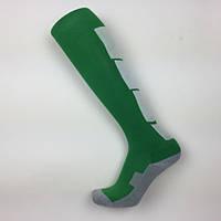 Гетры футбольные Europaw зелено-белые с трикотажным носком