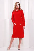 Женское красное  платье Straight   FashionUp 42-48 размеры
