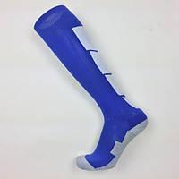 Гетры футбольные Europaw сине-белые с трикотажным носком