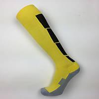 Гетры футбольные Europaw желто-черные с трикотажным носком