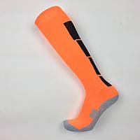 Гетры футбольные Europaw оранжево-черные с трикотажным носком