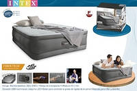 Надувная кровать со встроенным насосом 220В 152х203х46см Intex 64486