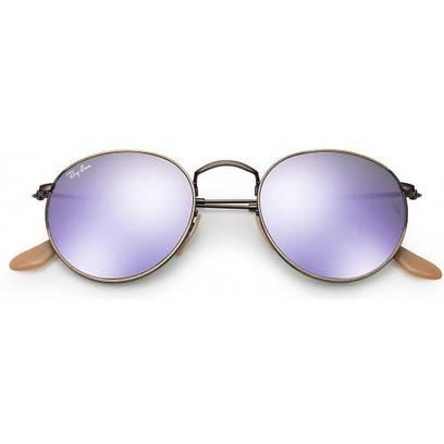 Солнцезащитные очки Ray-Ban Round Lilac Mirror RB3447 167/4K 50